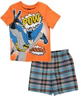 "Superman Little Boys' Toddler ""Pow! Boom!"" 2-Piece Outfit"