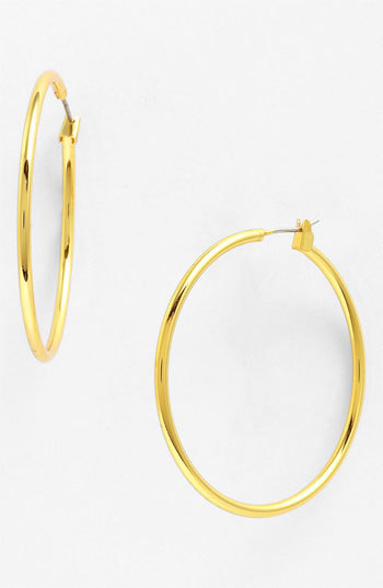 Anne Klein Large Hoop Earrings
