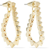 Eddie Borgo Tennis Link Gold-plated Crystal Earrings - one size