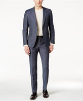 HUGO BOSS HUGO Men's Slim-Fit Medium Blue Pindot Suit