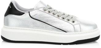 Paul Smith Leyton Metallic Leather Sneakers