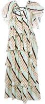 Sonia Rykiel stripe tiered dress