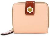 Orla Kiely Flower Leather Square Zip Wallet