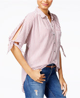 William Rast Clapton Cotton Striped Tie-Sleeve Shirt