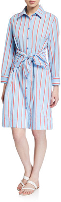 Finley Ellis Sparkle Stripe Shirtdress