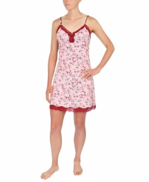 Sesoire Floral-Print Chemise Nightgown