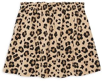 Andy & Evan Little Girl's Cheetah-Print Stretch-Cotton Skirt