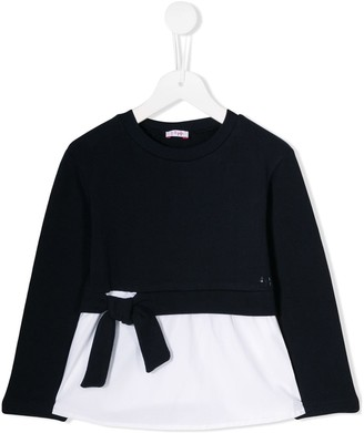 Il Gufo contrast material T-shirt