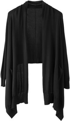 Voya Knitted Black Wrap Cardigan