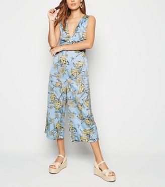 New Look Floral Twist Culotte Jumpsuit