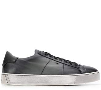 Santoni flat lace-up sneakers