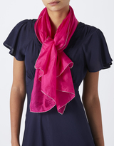 Monsoon Petra Pink Silk Scarf