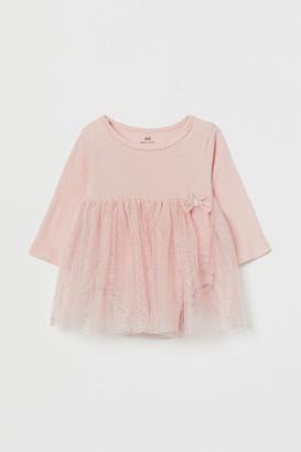 H&M Glittery Bodysuit Dress