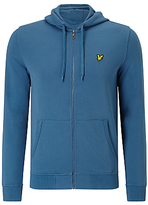 Lyle & Scott Full Zip Hoodie, Light Teal