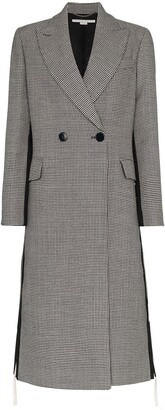 Stella McCartney Chana double breasted houndstooth wool coat