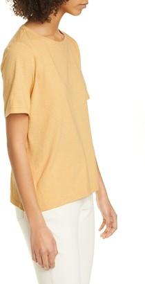 Eileen Fisher Stripe Organic Cotton Crewneck T-Shirt