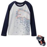 Puma Long Sleeve Tee & Socks Set (Little Boys)