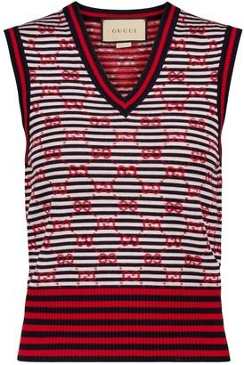 Gucci GG jacquard wool sweater vest