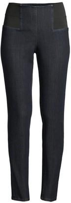 Lafayette 148 New York Nolita High-Rise Pull-On Skinny Jeans
