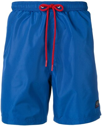Paul & Shark contrast drawstring swim shorts