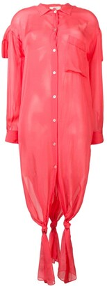 Forte Forte coral shirt dress