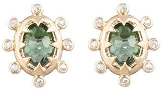 Alexis Bittar Modern Georgian Stone Stud Earrings
