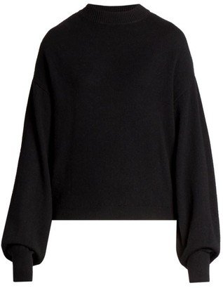 LOULOU STUDIO Porri Drop Shoulder Cashmere Knit Sweater