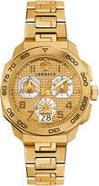 Versace Men's Dylos Chrono Gold Dial Watch, 44mm