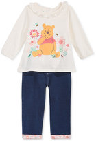 Nannette 2-Pc. Winnie The Pooh Top & Jeans Set, Baby Girls (0-24 months)