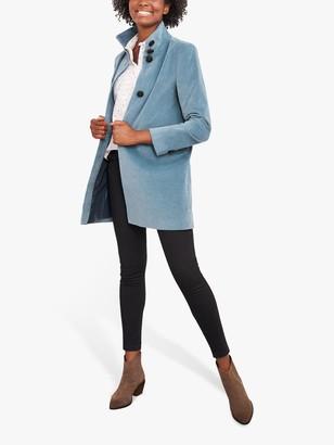 White Stuff Kenley Velvet Coat, Light Blue
