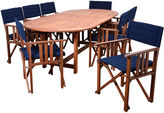 International Home Miami 9-Pc Amazonia Valencia Dining Set, Blue