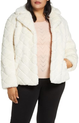 Halogen Textured Faux Fur Jacket