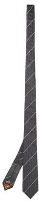 Paul Smith Striped Grenadine-silk Tie - Grey