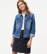 LOFT Distressed Denim Jacket