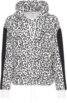 Puma Select Animalier Print Crop Cotton Hoodie