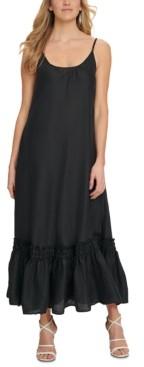 DKNY Ruffled-Hem Cami Maxi Dress