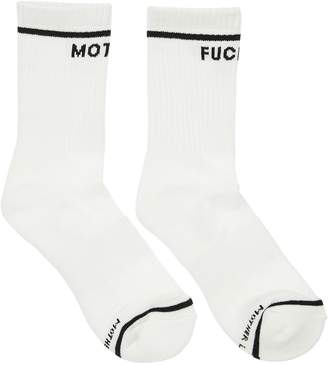 Mother FUCKER INTARSIA COTTON SOCKS