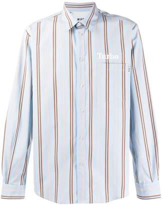 MSGM Turbo striped shirt