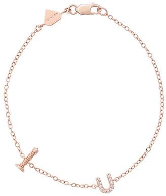Alison Lou 14kt rose gold Screw U bracelet