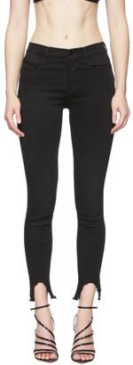 Frame Black Le High Skinny Stiletto Hem Jeans