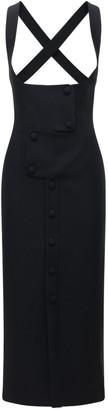 MATÉRIEL Square Neck Cool Wool Blend Midi Dress