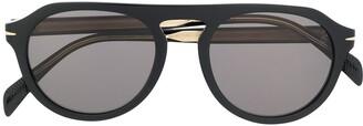 David Beckham Eyewear Aviator Sunglasses