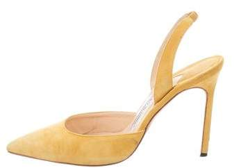 Manolo Blahnik Slingback Pointed-Toe Pumps