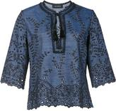 Yigal Azrouel embroidered details blouse - women - Cotton/Linen/Flax - 0
