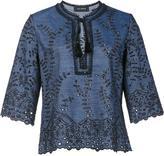 Yigal Azrouel embroidered details blouse - women - Cotton/Linen/Flax - 2