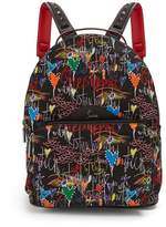 Christian Louboutin Loubitag Printed Backpack