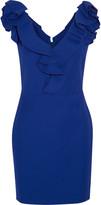Lanvin Ruffled stretch-gabardine mini dress