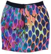 Trina Turk MultiColor Silk Oval Print Skirt