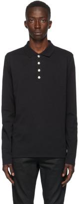 Balmain Black Long Sleeve Polo