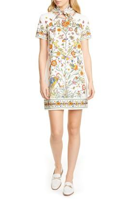 Tory Burch Printer Scarf T-Shirt Dress